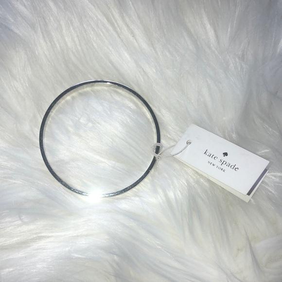 Kate spade bracelet bangle silver brand new shiny
